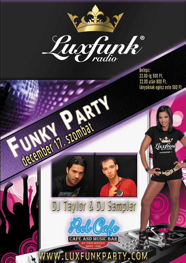 Luxfunk Radio Funky Party - Balassagyarmat 111217, Pool Cafe