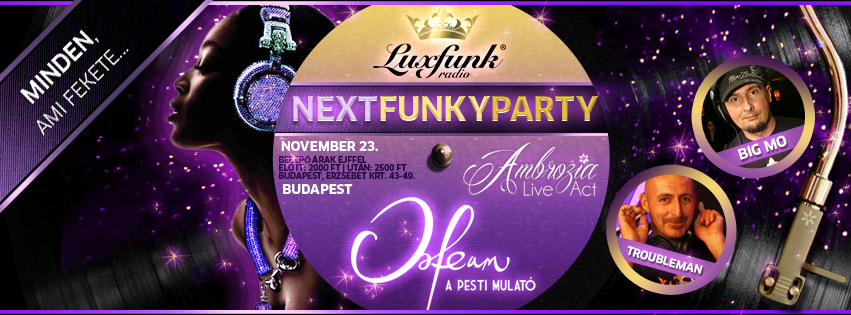 Luxfunk Radio Funky Party + Ambrozia Live Act koncert - 2013.11.23. Orfeum