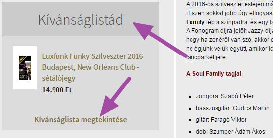 Luxfunk Funky Szilveszter jegy - kívánság listára 2