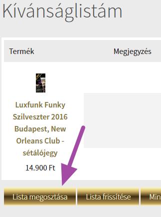 Luxfunk Funky Szilveszter jegy - kívánság listára 3